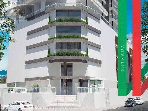 Imagem 1 de 23 de Apartamento Mobiliado, Na Guilhermina Em Praia Grande Com 2 Dormitórios, 87 M² Por R$ 450.000 - Ap2872