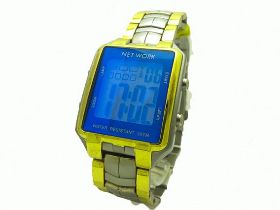 Relógio Unissex Digital Quadrado Mesclado Estilo Redro.