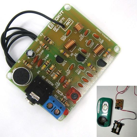 5 Kits Transmissor Fm Eletrônica Básica Pra Montar Curso 5un