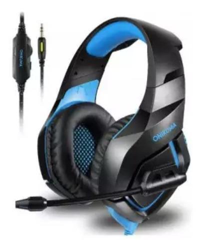 Fone De Ouvido Gamer Onikuma Headset Xbox Ps4/5 Pc Blue K1b