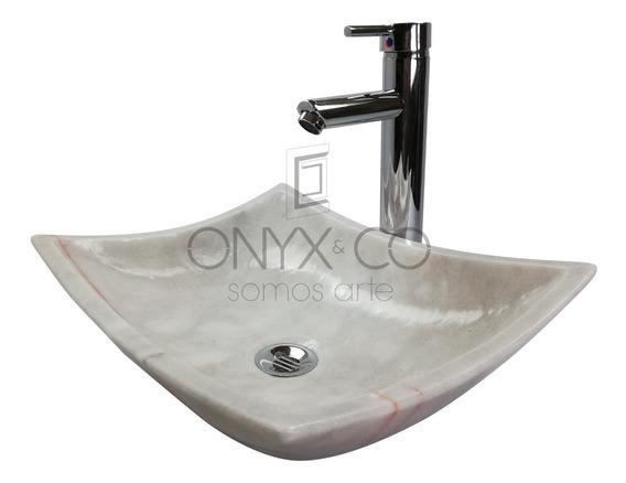 Ovalin Lavabo Moderno Minimalista Onix Marmol Baño 40/30