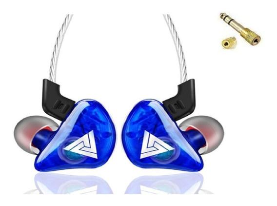 Fone Qkz Ck5 In Ear Retorno Palco Se215 + Brinde Plug Adapt