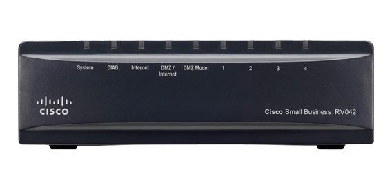 Router Cisco Rv042 Dual Gigabit Wan 50vpn Rv042g 4 Port