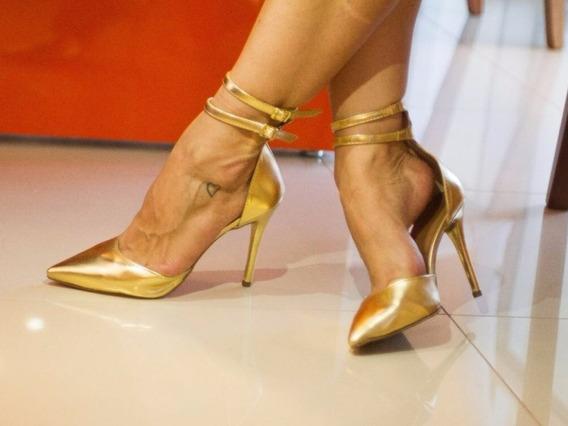 Scarpin Madrinha Debutante Dourado Salto 11cm -várias Cores