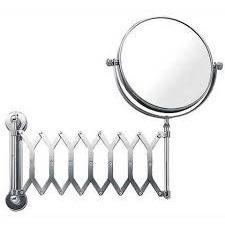 Espelho De Parede Articulado Dupla Face Aumenta 5x Maquiagem