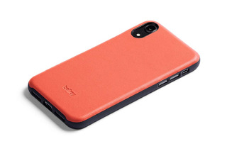 Bellroy Leather iPhone Xs Max Phone Funda - Coral