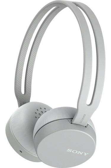 Fone De Ouvido E Microfone Sem Fio Nfc Bluetooth Cinza Sony