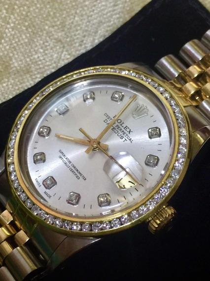 Rolex Original Con Diamantes