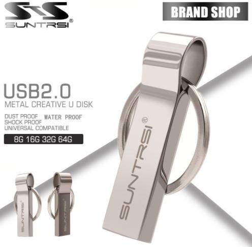 Kit C/ 2 Pen Drive 32gb Usb 2.0 Marca Suntrsi Metal Chaveiro