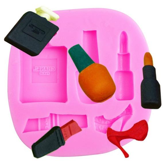 Molde De Silicone Manicure, Salão De Beleza A154