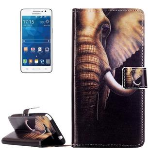 Funda Tipo Cartera Para Samsung Galaxy Grand Prime Elefante