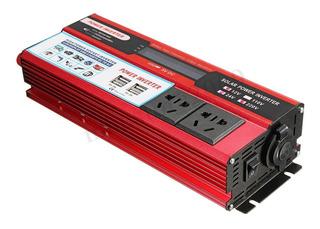 Inversor Pico 6000w 12v 110v 2plug Potente Red Envio Imediat