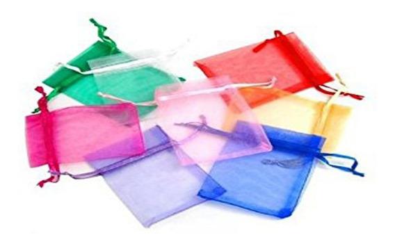 100 Bolsitas De Organza Tul 9x12 Souvenir Bijouterie Colores