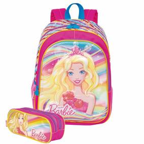 Kit Mochila Barbie 3d Infantil Com Estojo Duplo Sestini