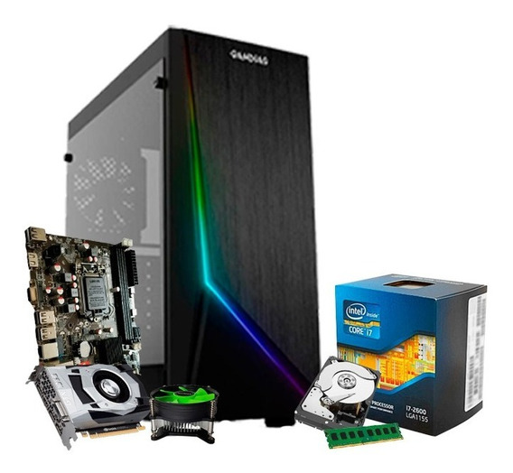Cpu Gamer Intel Core I7, 8gb, 1tb, Geforce Gtx1060 3gb + Nfe