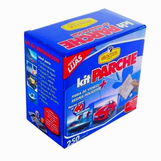 Kit Fibra De Vidrio Parche 500 Gr Resina+pincel+lijas+guant