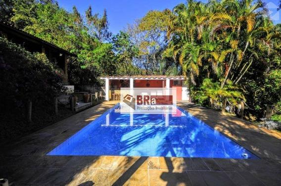 Chácara Térrea Com 4 Dormitórios Para Alugar, 2000 M² Por R$ 5.500/mês - Parque Rural Fazenda Santa Cândida - Campinas/sp - Ch0030