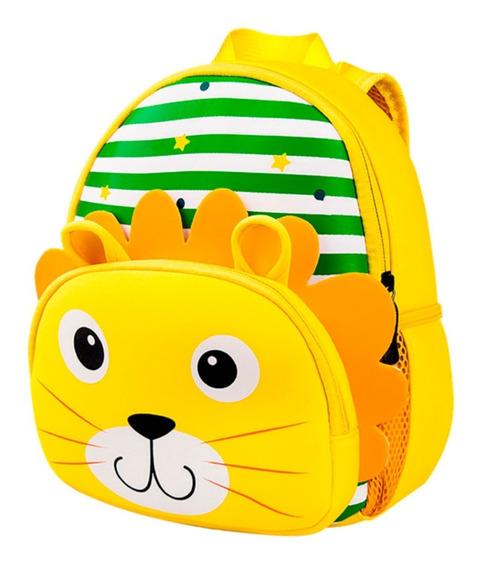 Mochila Animal Leon Rayas Infantil Bag Simball Kids