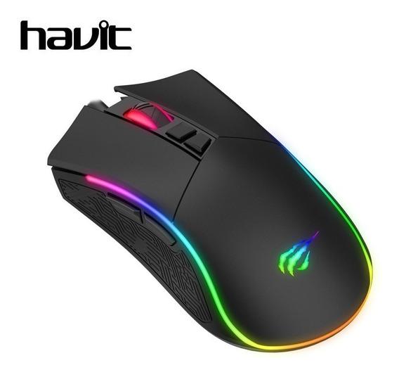 Mouse Havit Gamer Ms1001 7200dpi 7 Botões Sensor Pmw3212 Rgb