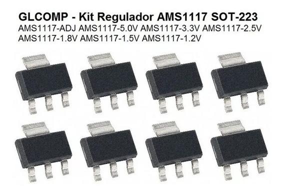 Regulador Ams1117 Sot-223 Kit C/ 70 Peças 7 Valores - Carta