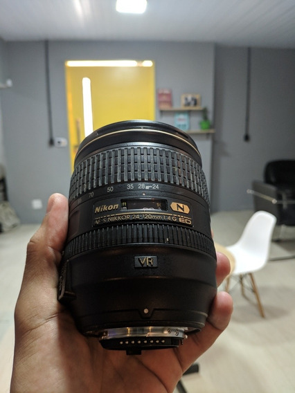 Lente Nikon 24-120 1:4 G Ed Série N Vr