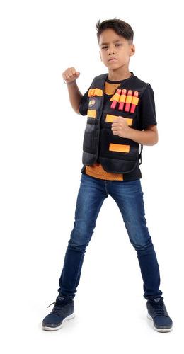 Imagem 1 de 1 de Colete Nerf Infantil Com Bolsos E Espaços P/ Colocar Dardos