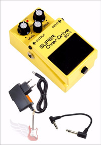 Pedal Boss Super Over Drive Sd1 + Fonte + Palhetas