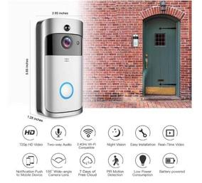 Campainha Com Camera E Audio Inteligente Wifi Remoto Acesso