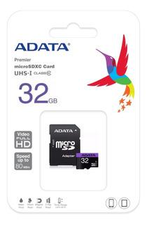 Memoria Micro Sd 32 Gb Adata Uhs-i C 10 50 Mb Factura Legal