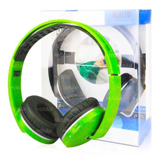 Fone De Ouvido Bluetooth Micro Sd Recarregável Fm - Kp-420
