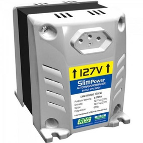 Autotransformador 127/220vac 2000va Slim Power Branco Rcg