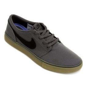 Tênis Nike Sb Portmore 2 Solar Cinza Masculino Original Nf-e