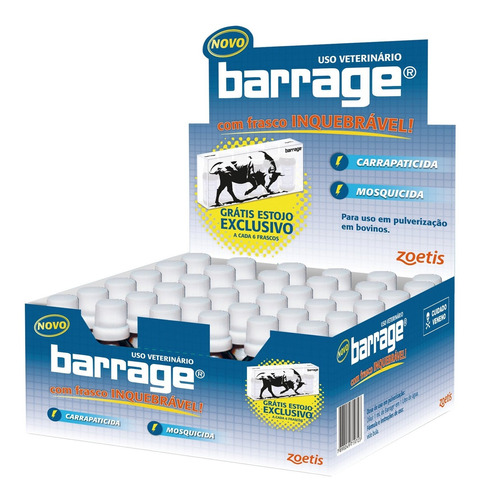 V Barrage  15%  Ec  20ml (carrapato, Mosca) - Fort Dodge