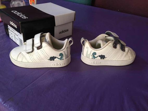 Zapatillas Vs Advantage Clean Blanco adidas Talle 21