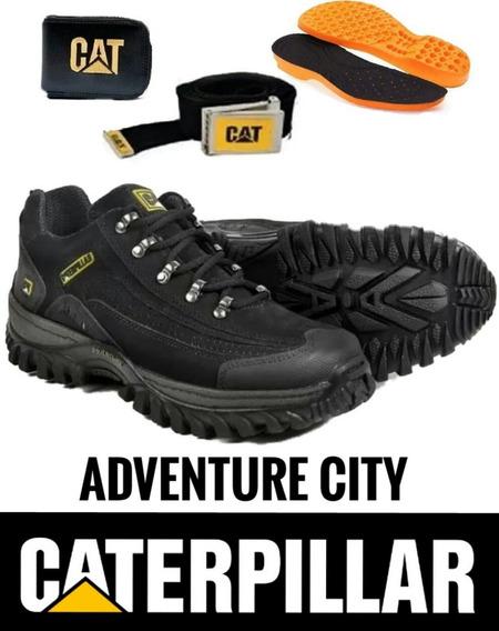 Tenis Caterpillar Couro Adventure Promoçã Kit Carteiracinto