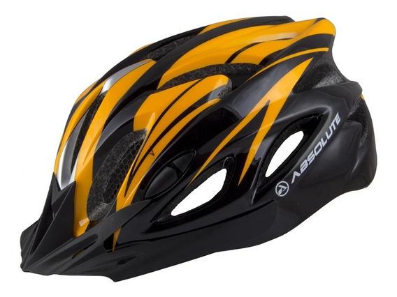 Capacete Ciclismo Absolute C/ Sinalizador De Led Bicicleta