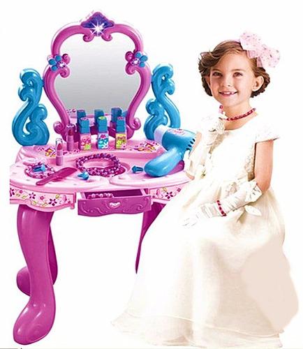 Tocador Beauty Para Niñas Con Accesorios Con Sonidos Nuevo!!