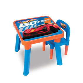 Mesa Brinquedos Hot Wheels Didatica C/ Cadeira Hw6020