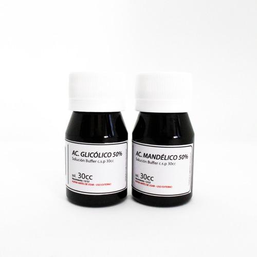 Imagen 1 de 4 de Ac. Mandelico 50% + Ac. Glicolico 50% Combo Peeling X30ml.