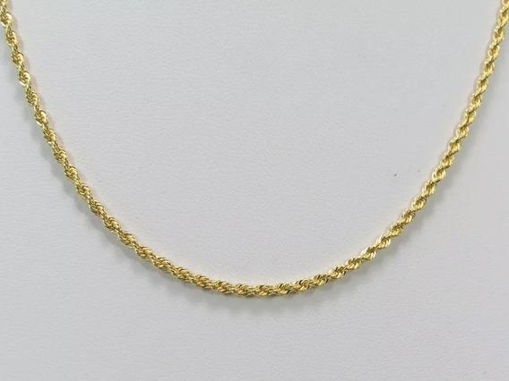 Corrente Feminina Cordão Baiano Ouro 18k 45cm
