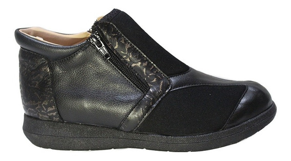 Zapato De Cuero Mujer Neoprene Comodos 540. Marca Descansito