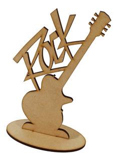 Kit 30 Lembrancinha Guitarra Rock Música Centro De Mesa Mdf