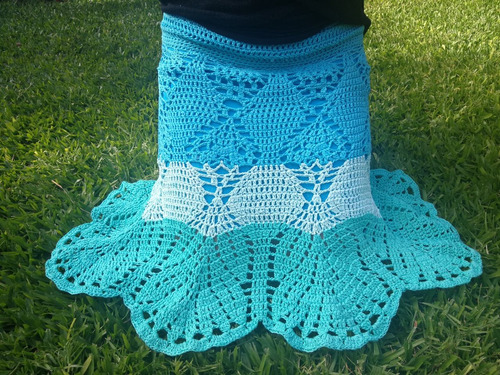 dadd7c4ed Pollera Tejida Al Crochet - Polleras de Mujer Agua en Mercado Libre ...