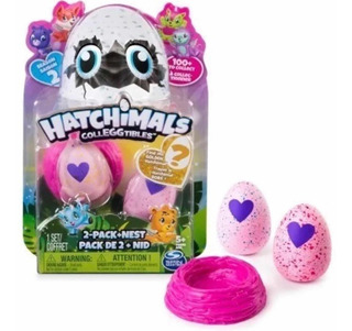 Hatchimals Colleggtibles X2 Huevitos + Nido - Serie 2 O 3