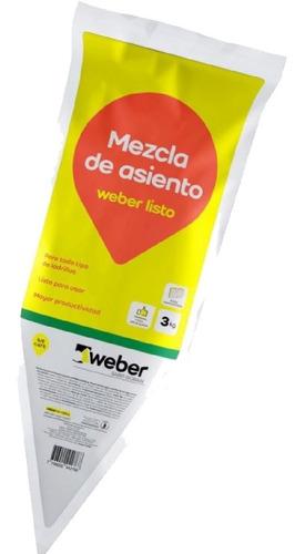 Mortero De Asiento Weber Listo Gris 3 Kg Ladrillos Sibaco