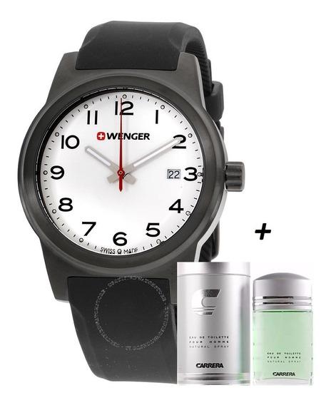 Promoção Relógio Wenger 01.0441.15ocb Perfume Carrera Brinde