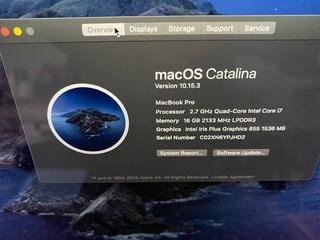 Macbook Pro Retina I7 16gb 500gb Ssd 2018 Apple Care 2021