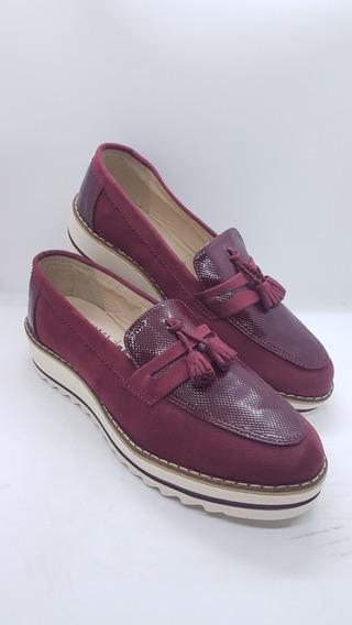 Zapatos Colombianos Para Damas Mocasines Color Vinotinto