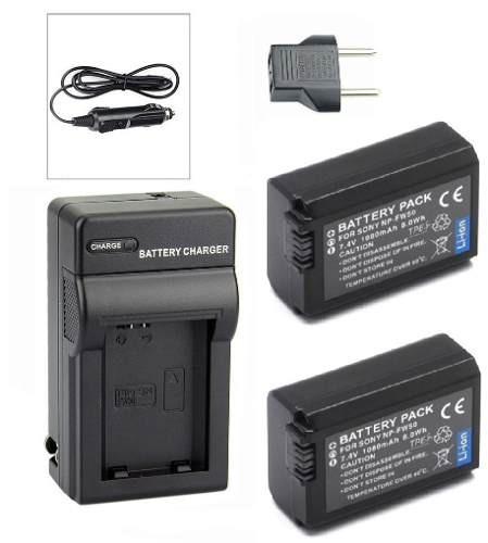 2 Baterias + Carregador Np-fw50 Para Sony A5100 A6500