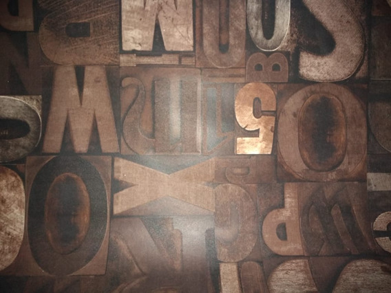 Papel Tapiz Letras Importado 10mx53cm